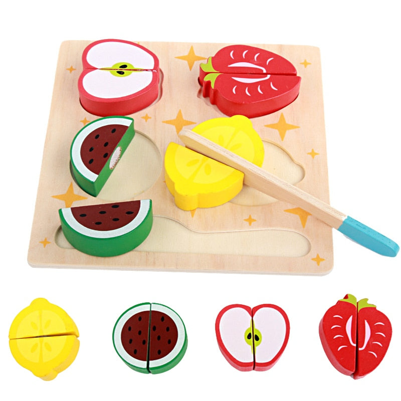 3D Kitchen Cutting Fruit Vegetables Board Real Life Toy