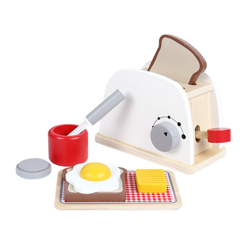 Wooden bread machine breakfast Pretend Play