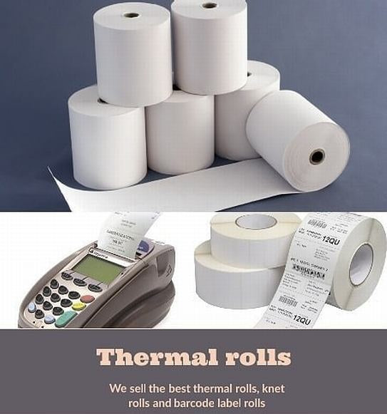 Paper Roll, Barcode Labels اوراق للطابعات