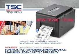 TSC TE-200 Black Desktop Barcode Printer