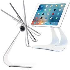 iPad Stands & Tablet Holder PRO Adjustable Stand White Color