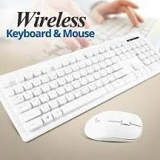 Genuine Wireless Desktop Waterproof Keyboard & Ergonomic Mouse Combo, English/Arabic, White  GN-KM232W