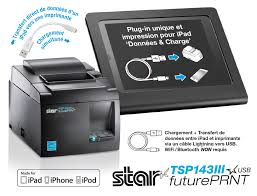 STAR TSP143IIIU Grey Thermal USB Printer from STAR - iOS Compatible