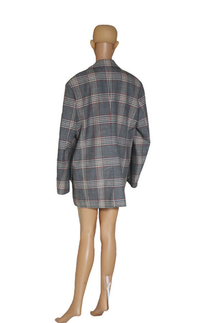 Back view of CELINE Plaid Coat Size: FR 36 (US 4-6)
