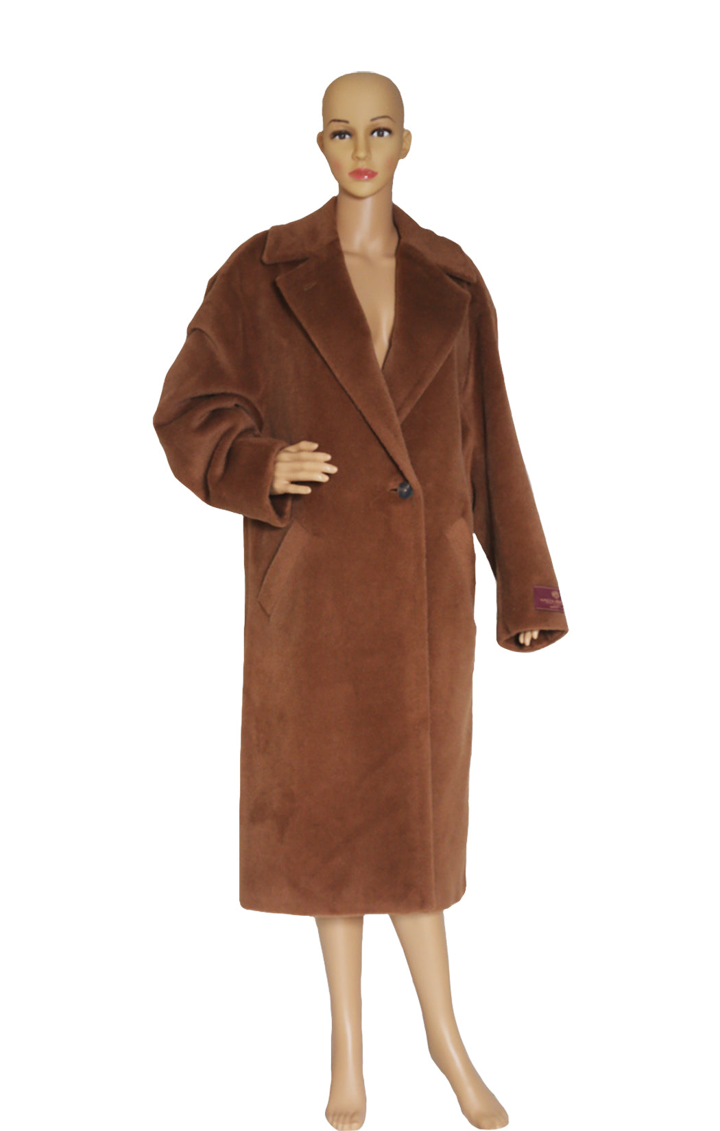 Front view of BABATON 1-01 Oversized Coat Size: M-L