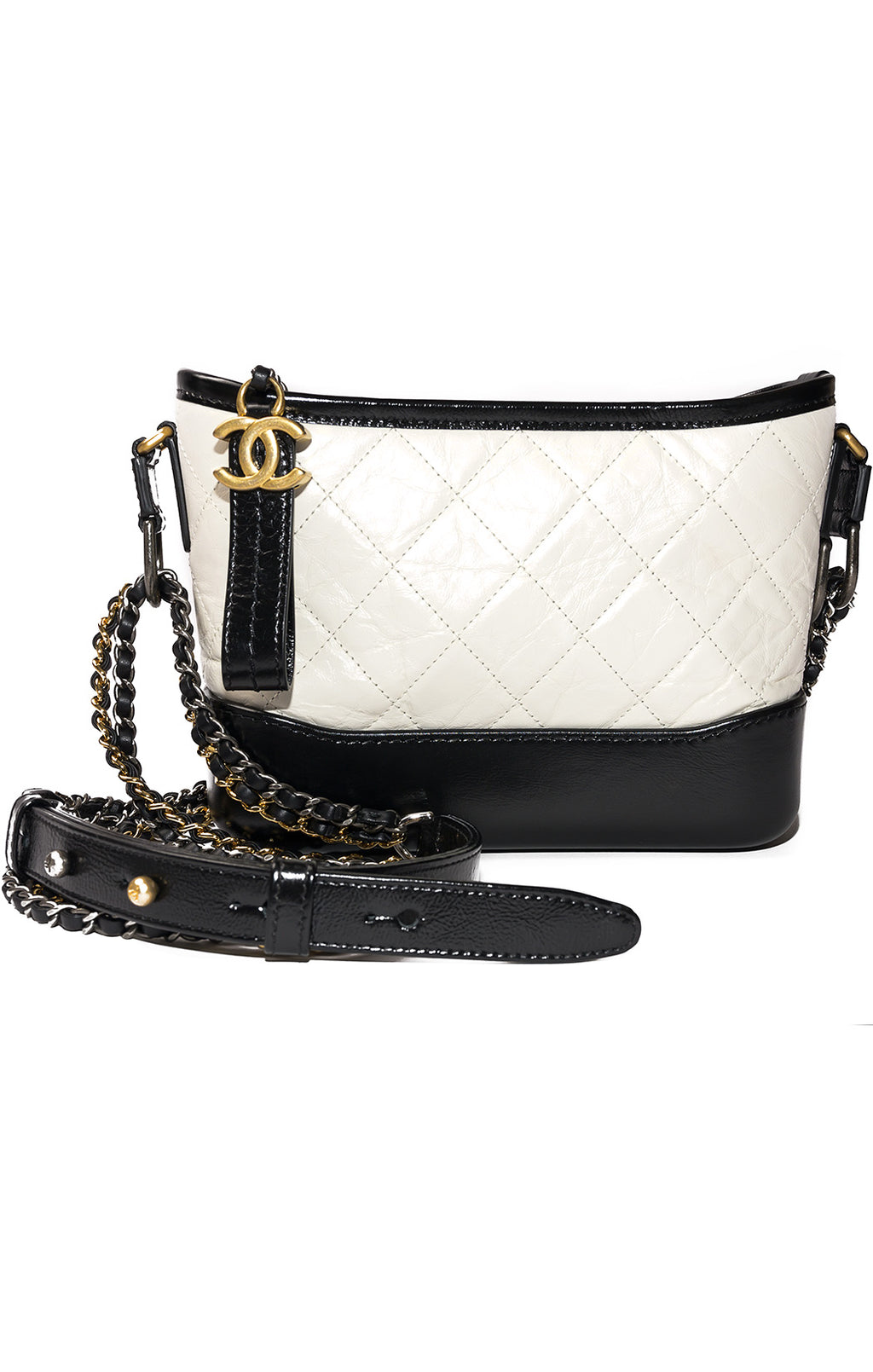"Front view of CHANEL Handbag Size: 8"" W x 6"" H x 3"" D"