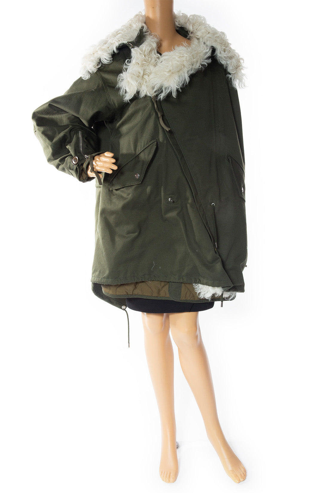 Front view of BALENCIAGA Oversized Jacket with Tags Size: FR 36 (US 2-4)
