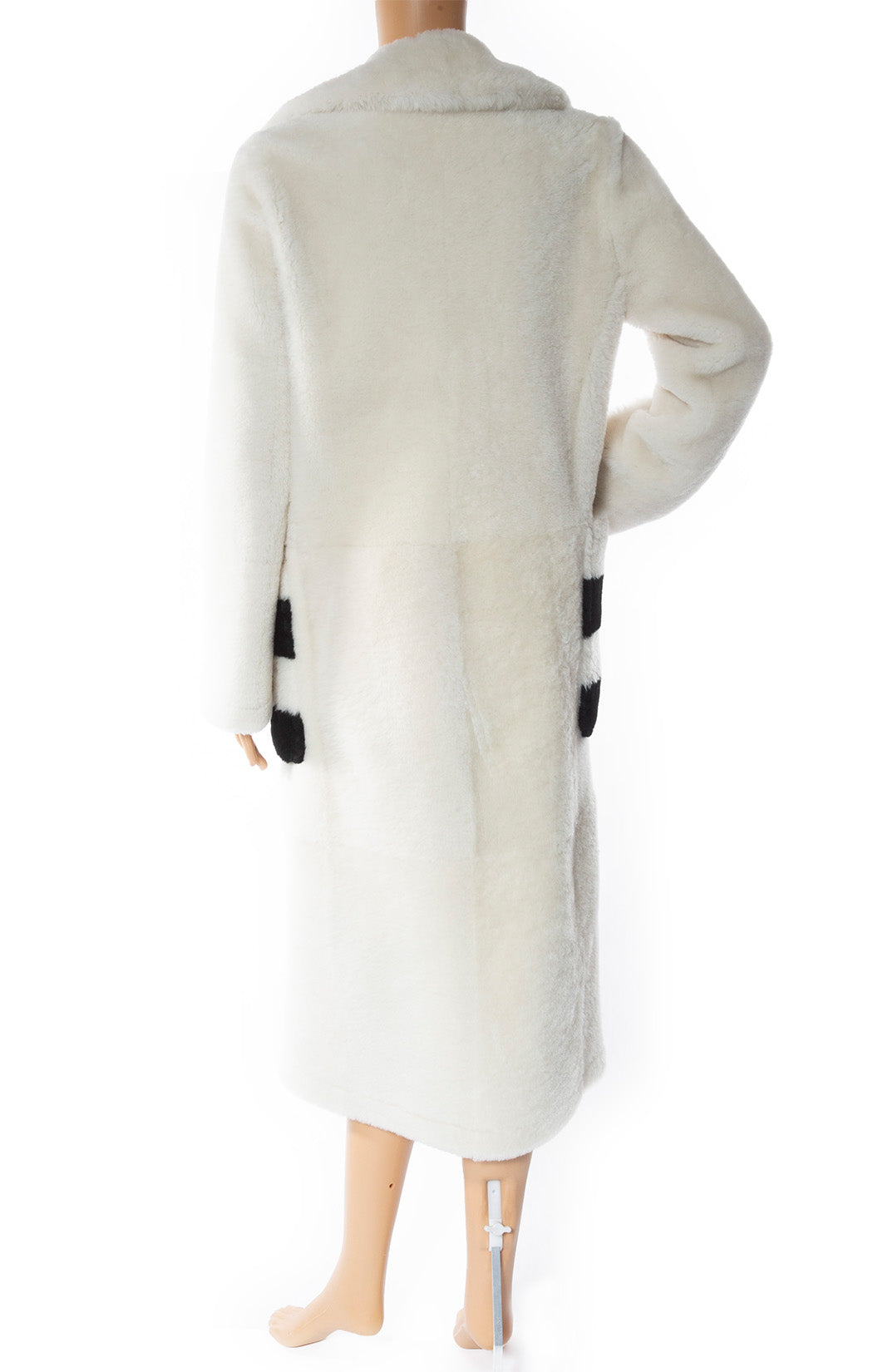 Back view of MAX MARA Fur Coat with Tags