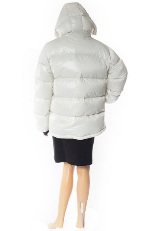 Back view of TNA Puffer Jacket with Tags