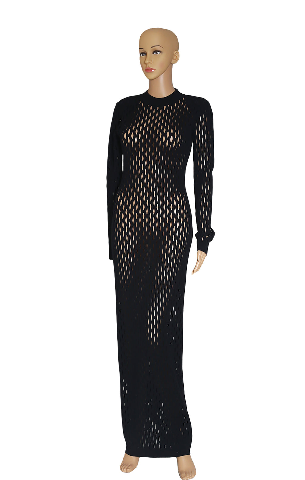 Front view of BALMAIN Long Dress Size: FR 36 (US 4-6)