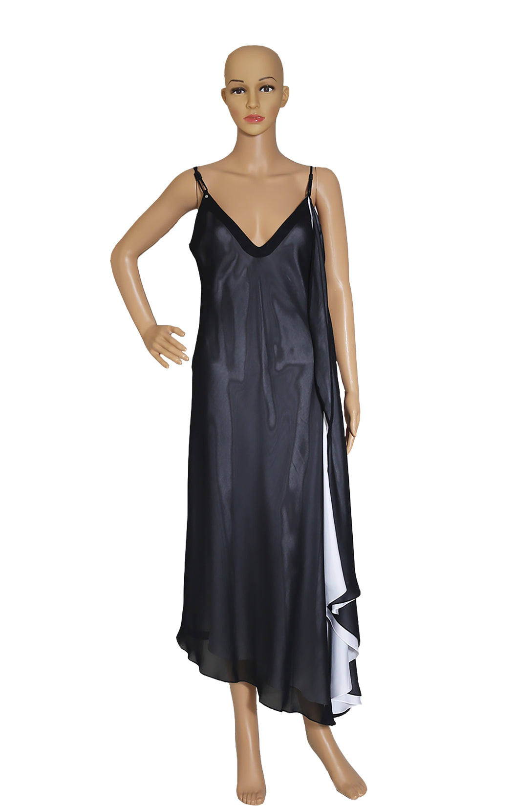 Front view of LOUIS VUITTON Spaghetti Strap Dress with Tags Size: FR 40 (US 8)