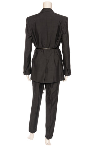 BOTTEGA VENETA  Pantsuit  Size: Jacket- IT 36 (comparable to US 0; oversized fits like 4) Pants - IT 44 (comparable to US 6-8)