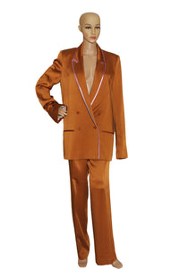 Front view of HAIDER ACKERMANN Pant Suit  Jacket Size: FR 40 (US 8), Pant Size: FR 42 (US 10)