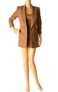 Front view of ZEYNEP ARCAY Blazer and matching dress Size: US 0