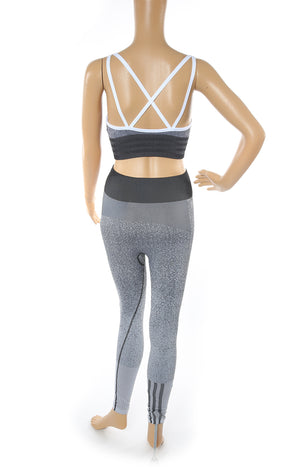 Back view of ADIDAS Matching Bra and Leggings Set with Tags