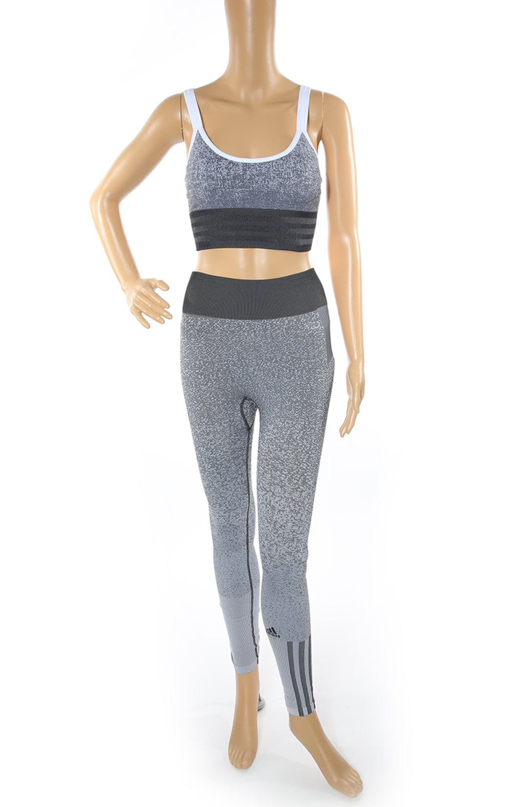 Front view of ADIDAS Matching Bra and Leggings Set with Tags Size: XS
