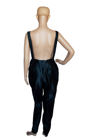 Back view of YVES SAINT LAURENT Overalls