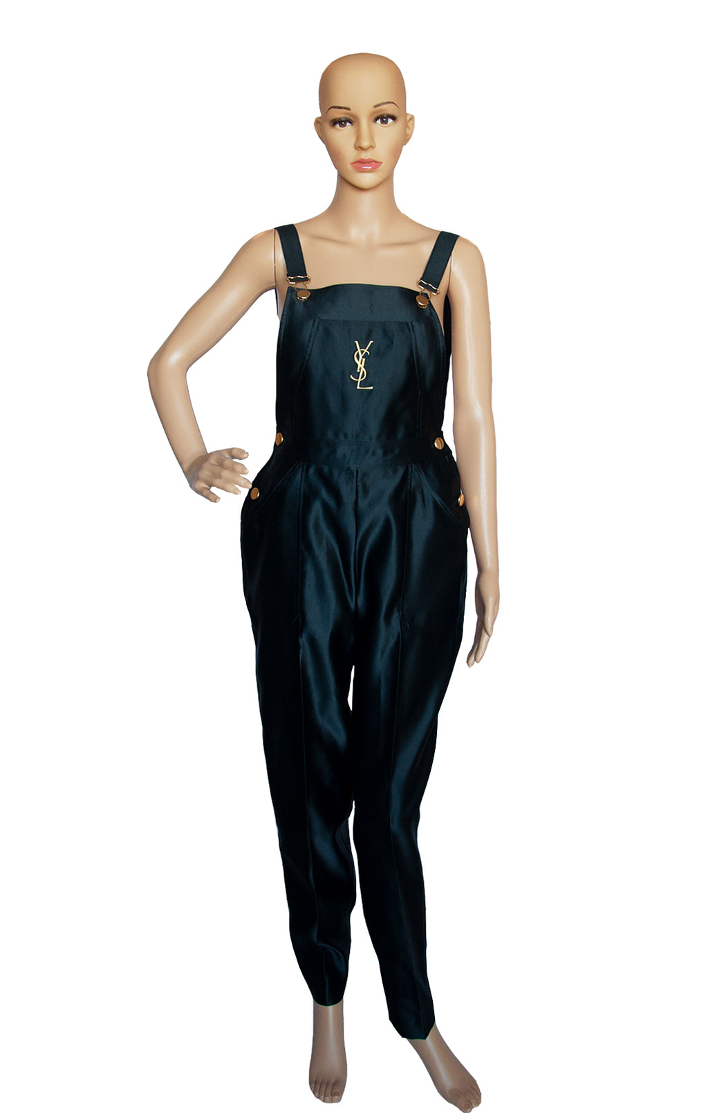 Front view of YVES SAINT LAURENT Overalls Size: FR 38 (US 6)