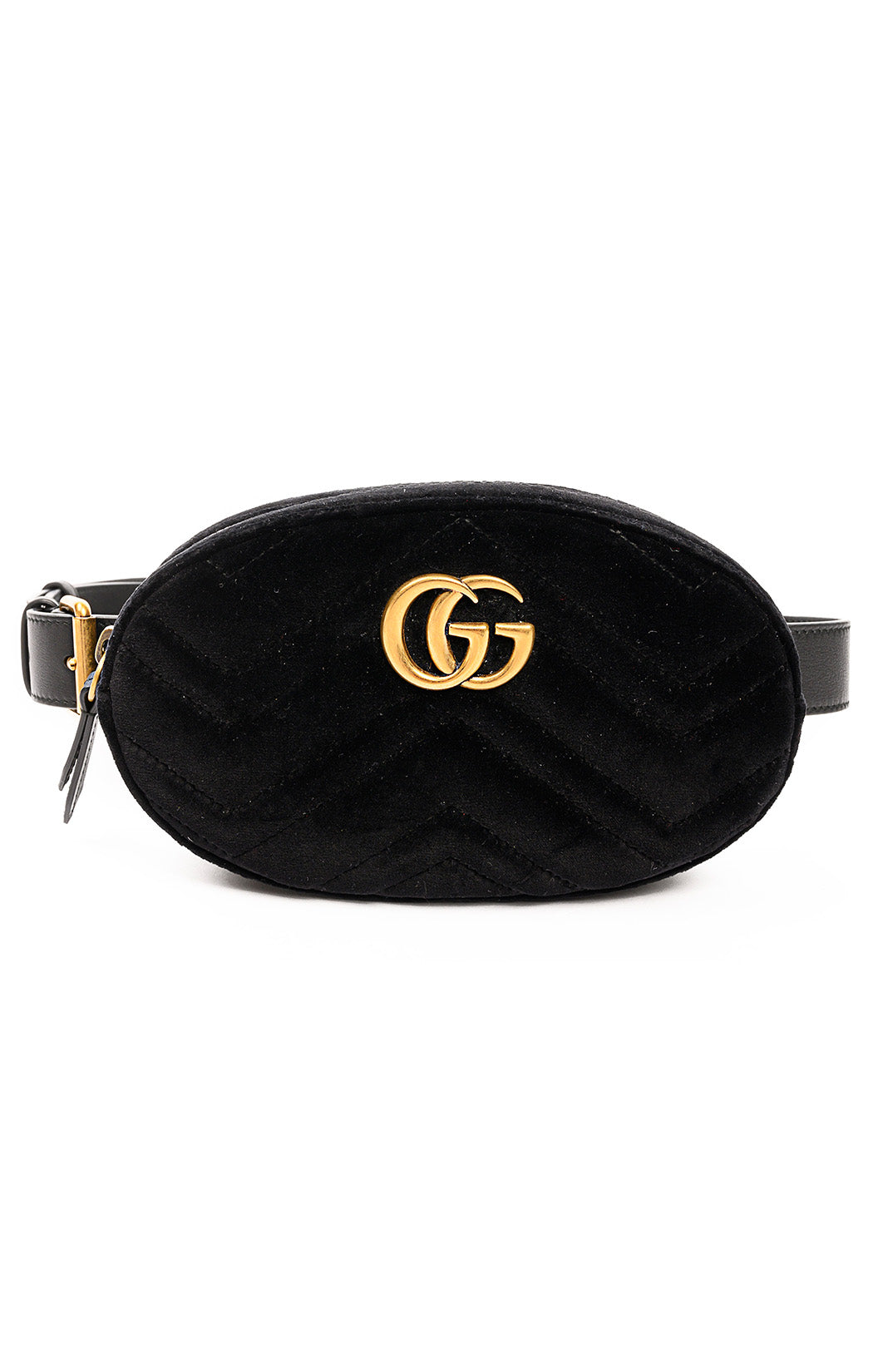 "Front view of GUCCI Fanny pack Size: 7.5"" W x 4.5"" H x 2"" D"