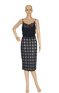 Front view of BALMAIN  Skirt Size: FR 40 (US 10)