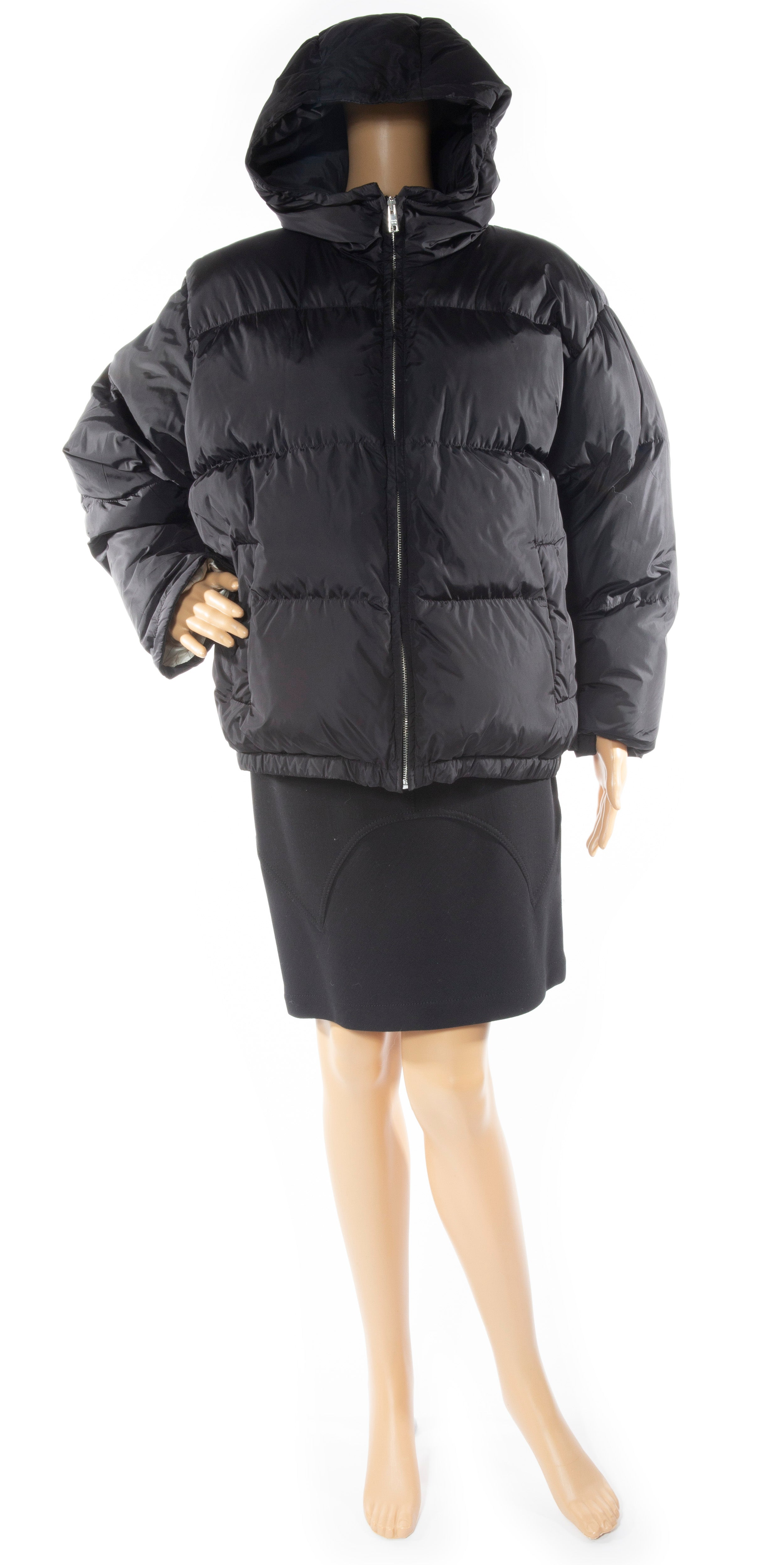Front view of PRADA Puffer jacket Size: 38 (comparable to US 2)