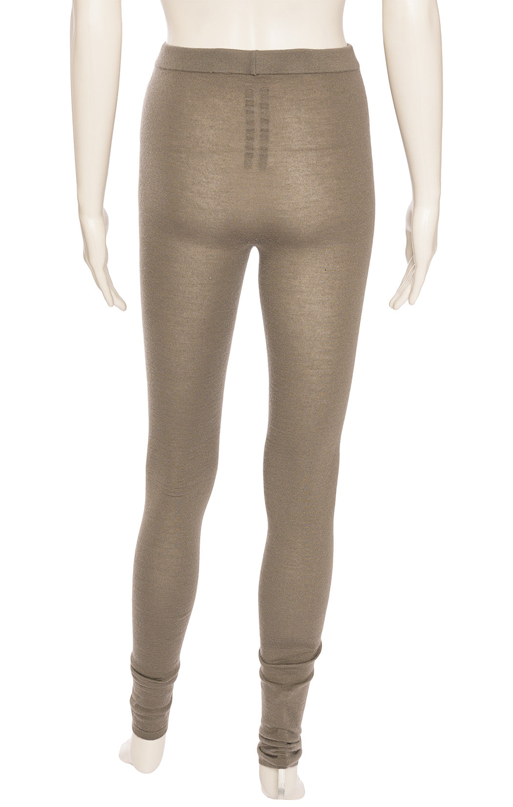 Taupe first fitting leggings with elastic waistband