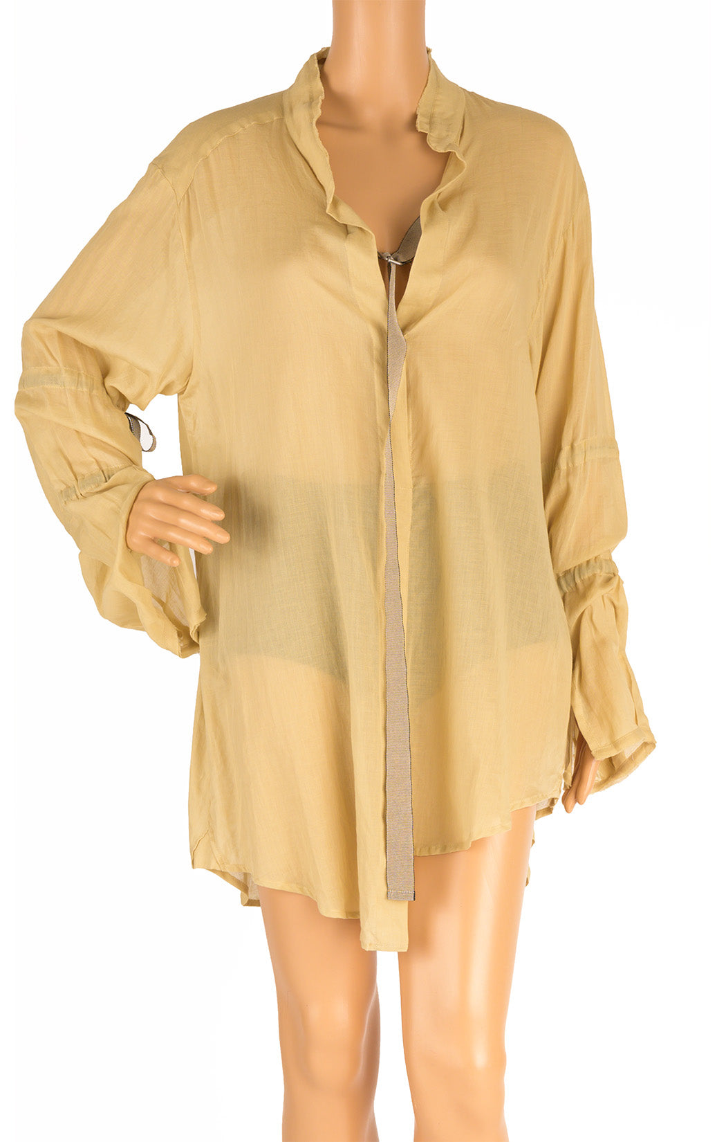Front view of ANN DEMEULEMEESTER  Blouse Size: FR 38 (comparable to US 6)