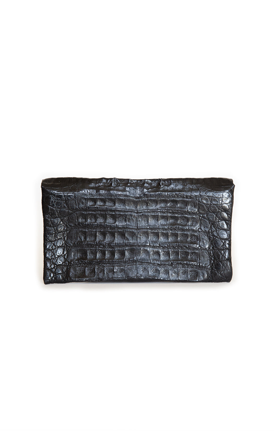 "Back view of ADRIANA CASTRO Clutch Size: 8.75"" x 4.75"" x .5"""
