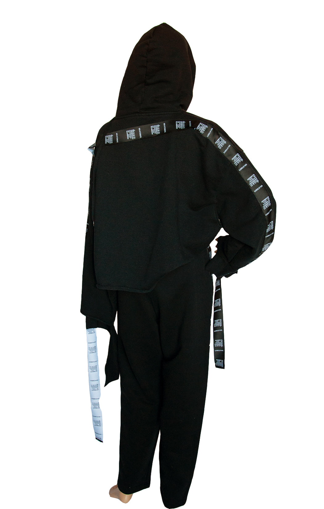 Back view of VETEMENTS Black Sweatsuit Hoodie