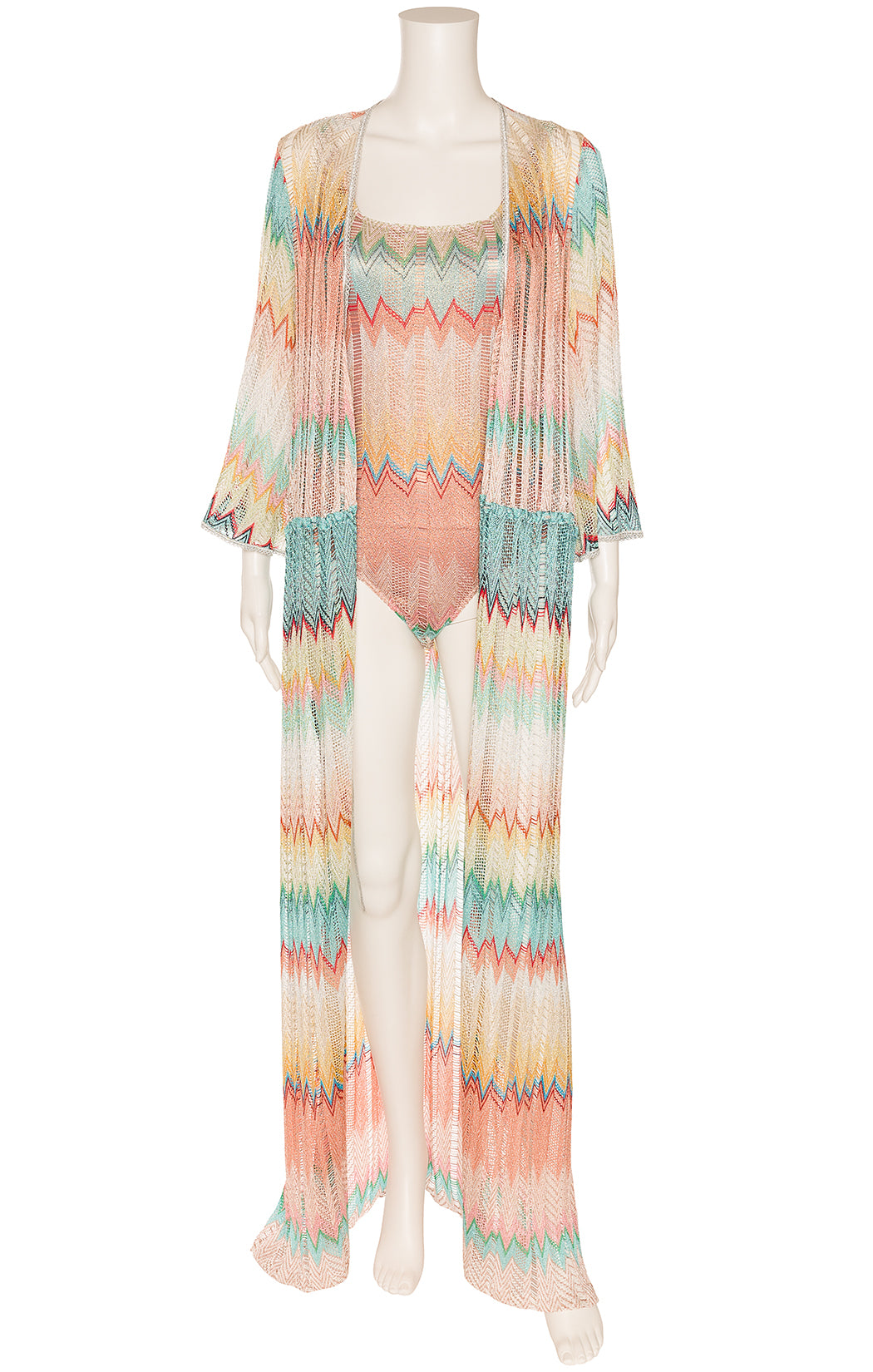 MISSONI MARE Coverup and one piece bathing suit  Size: Coverup IT 42 (comparable to US 4-6) One piece bathing suit IT 44 (comparable to US 6-8)