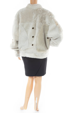 Back view of VEJAS Shearling jacket