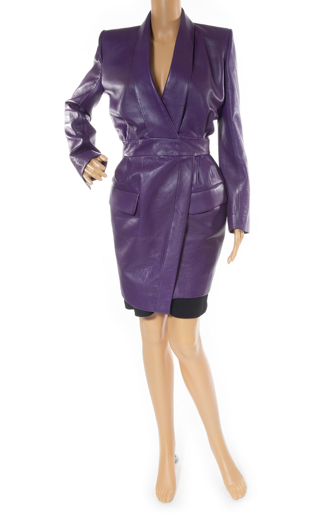 Front view of ALEXANDRE VAUTHIER Coat Size: FR 40 (comparable to US 8)