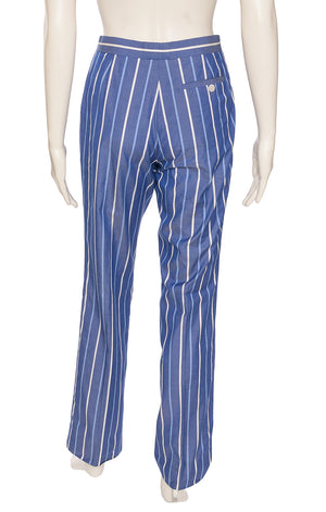 Blue with light blue and white stripe pants