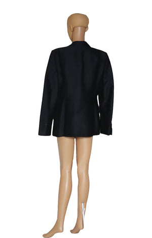 Back view of BURBERRY Black Blazer