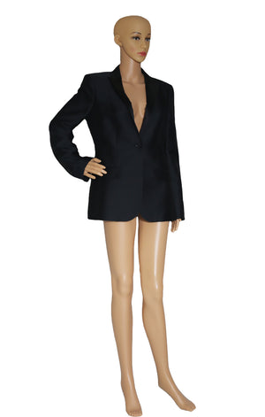 Front view of BURBERRY Black Blazer