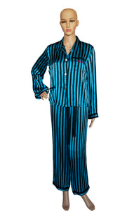 Front view of MORGAN LANE Striped Pajama Set Size: Small