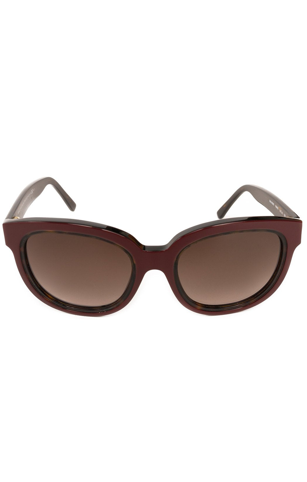 "Front view of BALENCIAGA  Sunglasses  Size: 5.5"" W x 2.5"" H"