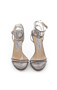 Front view of JIMMY CHOO Sandal Size: 8.5