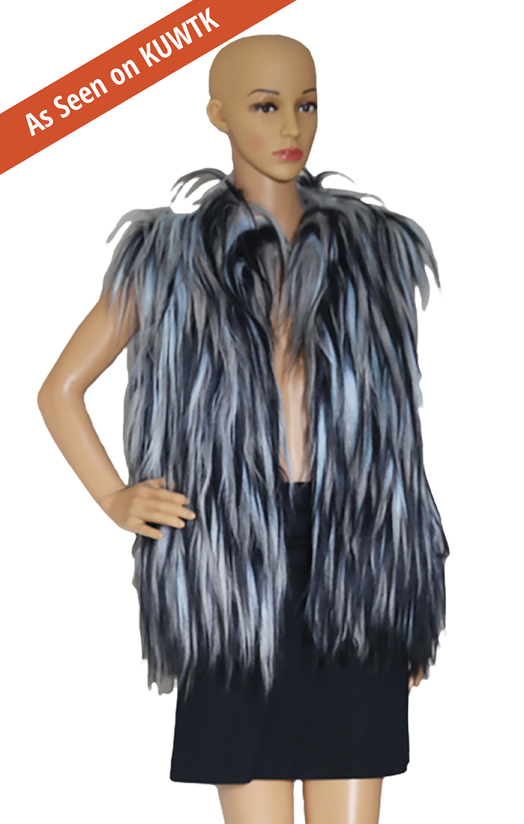 As seen on KUWTK, Closeup of OSCAR DE LA RENTA Goat Haired Vest with Tags Size: US Large