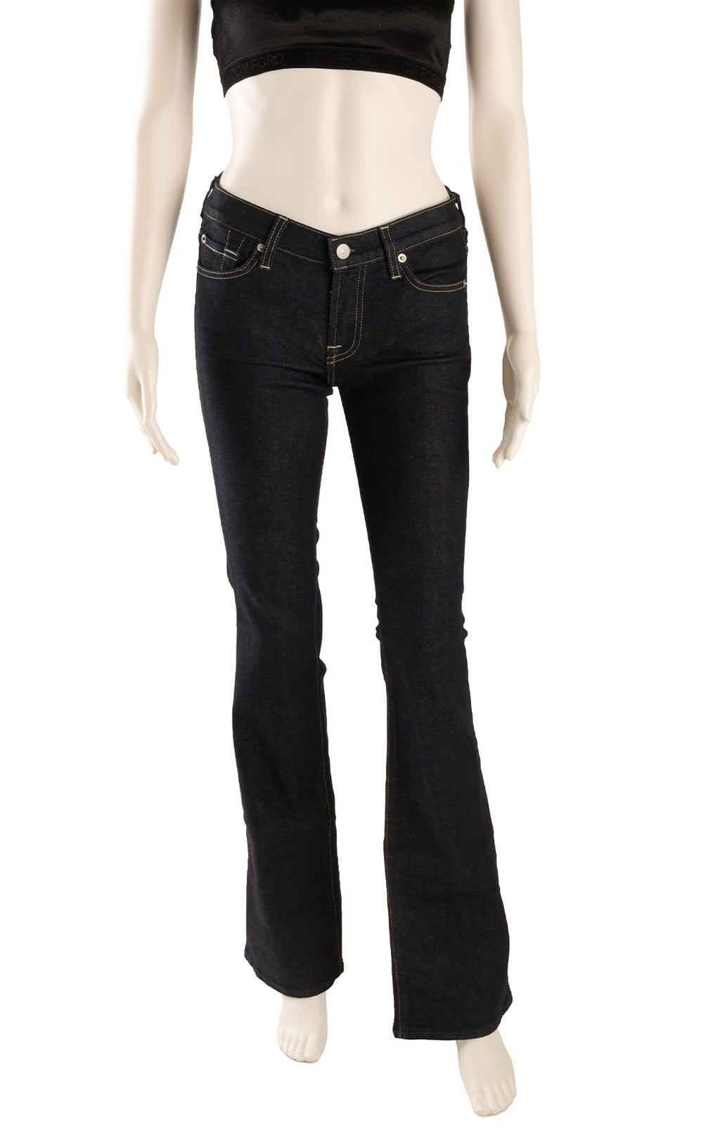 "Front view of 7 FOR ALL MANKIND with tags Jeans Size: 25"" waist"