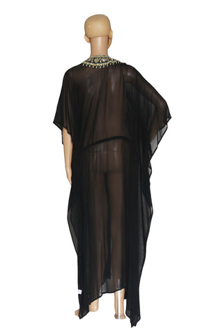 Back view of FASHION NOVA Caftan with Tags