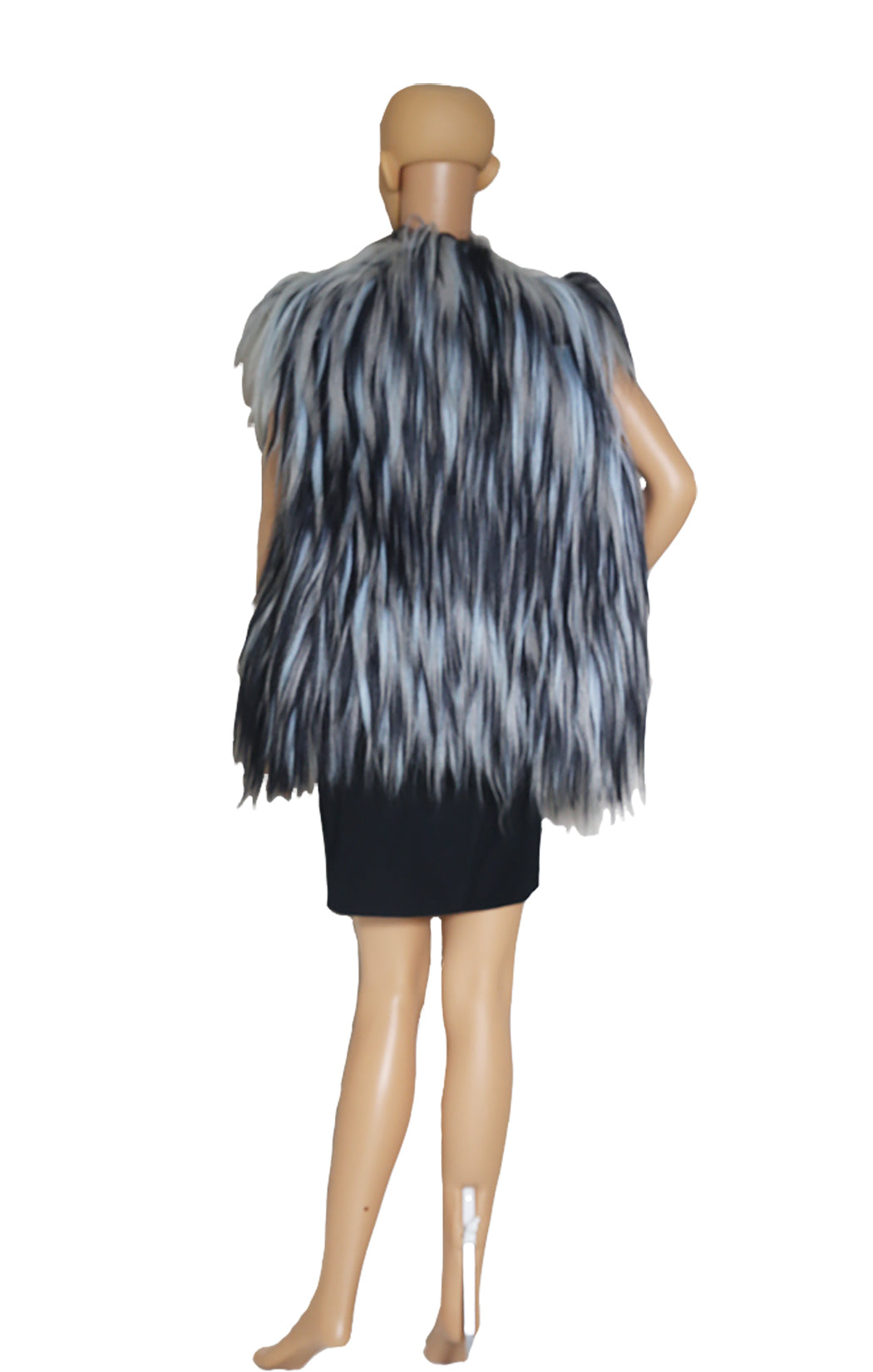 Back view of OSCAR DE LA RENTA Goat Haired Vest with Tags