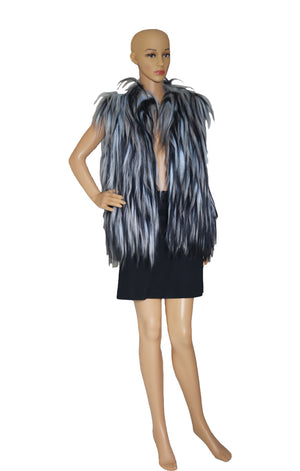 Front view of OSCAR DE LA RENTA Goat Haired Vest with Tags