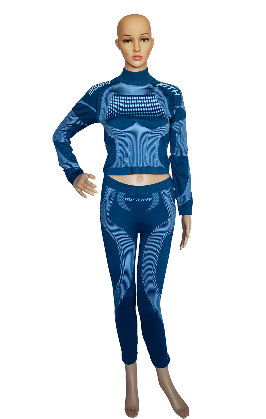 Front view of MISBHV X KITH Matching Top and Leggings Size: Medium