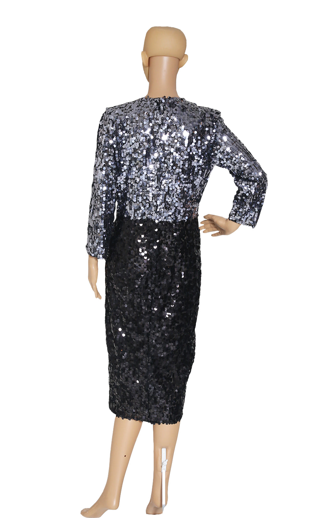 Back view of DOLCE AND GABBANA Full Sequined Dress with Tags