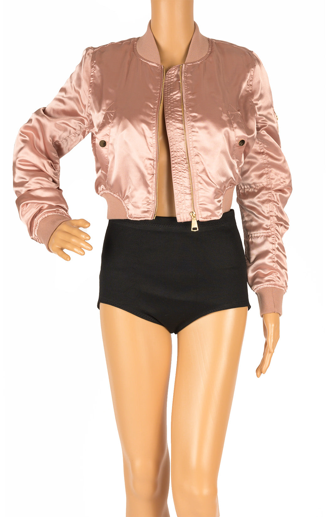 Front view of BOSSA with tags Bomber jacket Size: Small