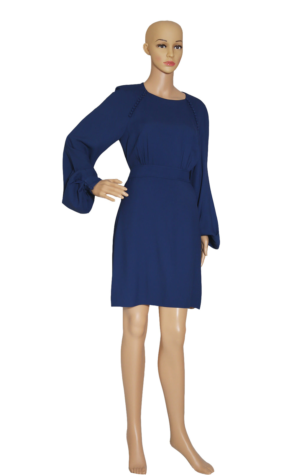 Front view of CHLOE  Navy Dress Size: FR 38 (US 6)