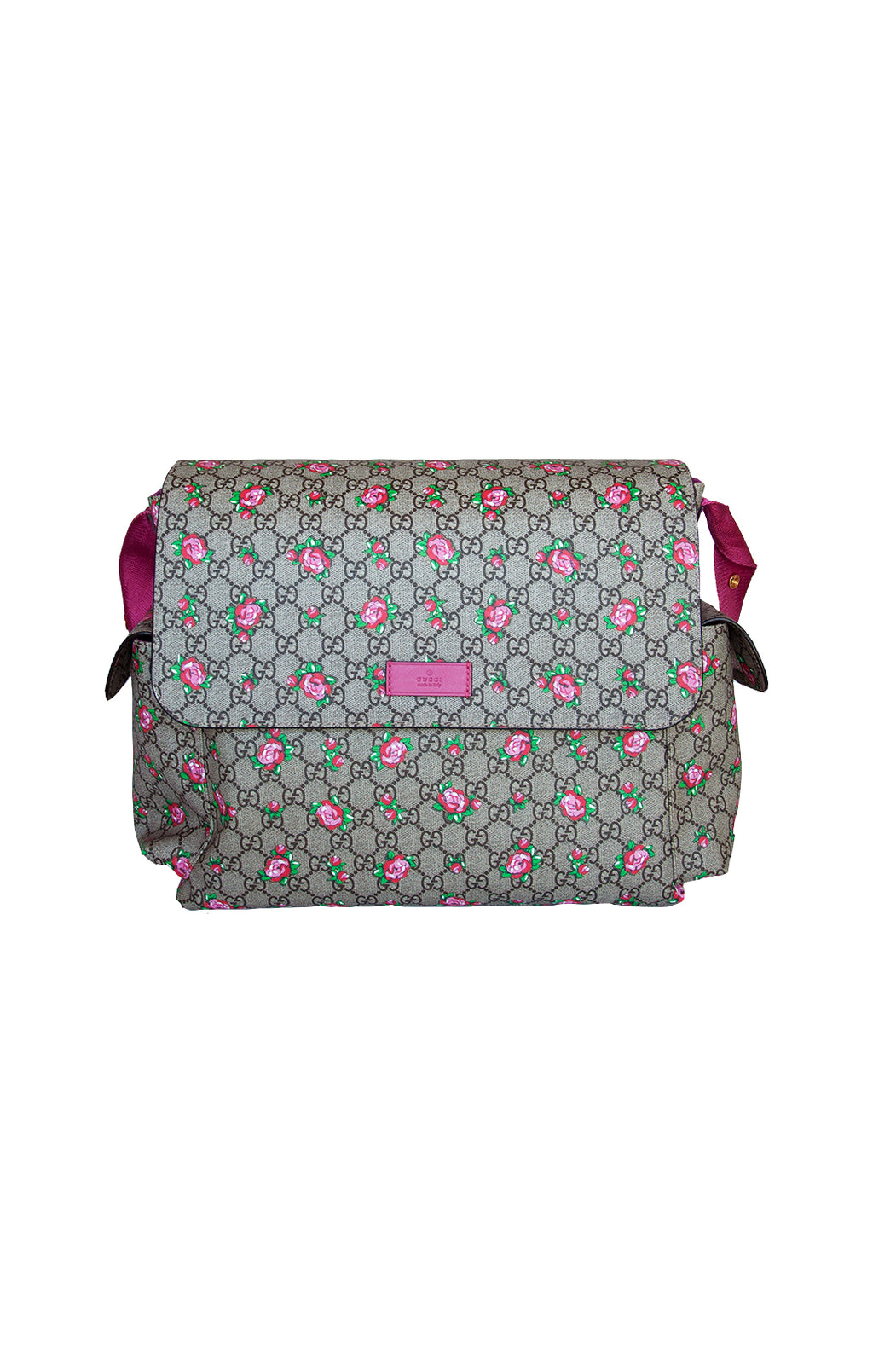 Front view of GUCCI Diaper Bag Size: 17 in. x 13 in. x 6 in.