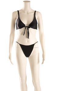 Front view of NAKED WARDROBE with tags Bikini Size: Small