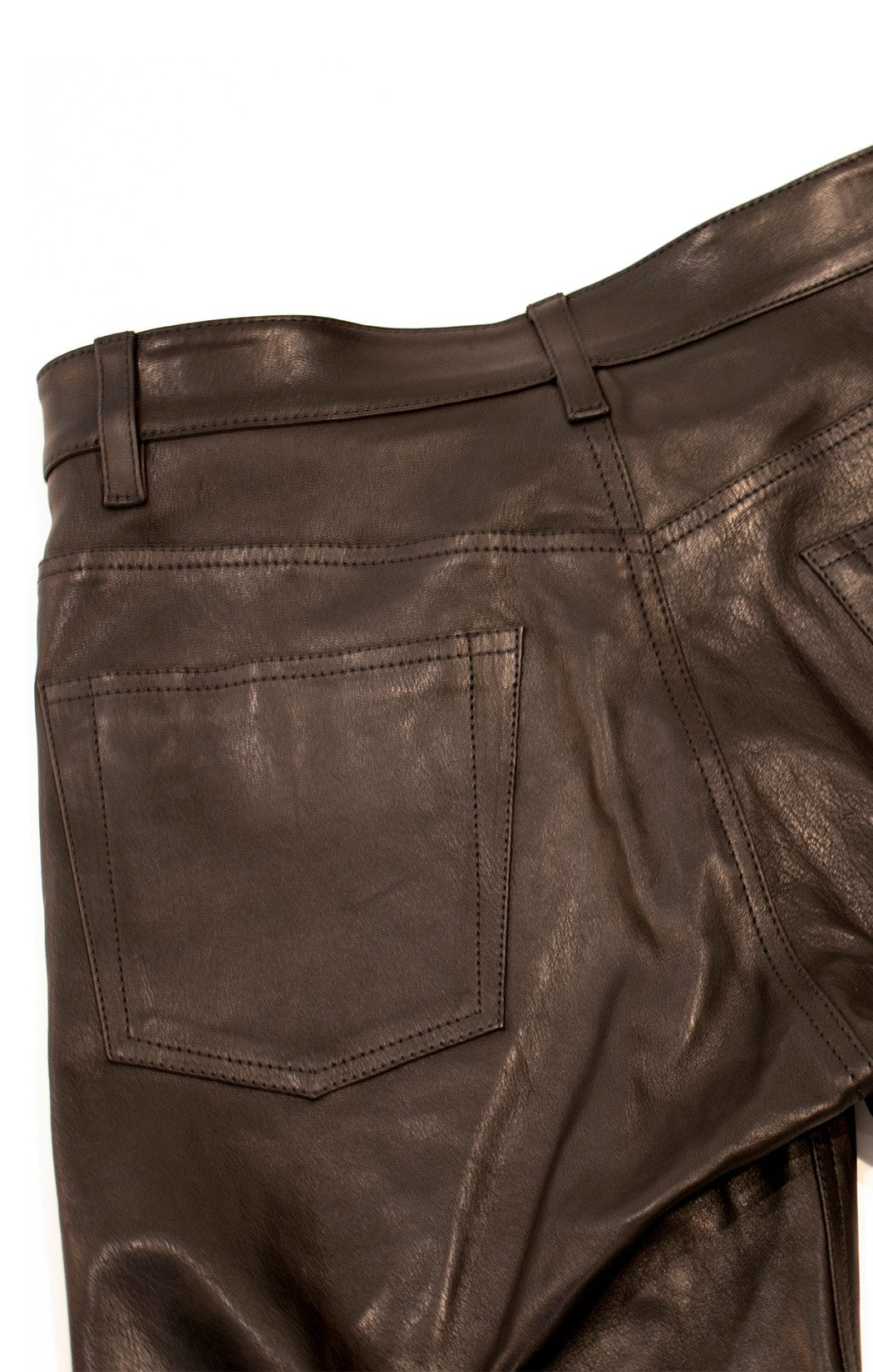 Closeup view of BALENCIAGA w/tags Leather pants Size: FR 42 (comparable to US 10)